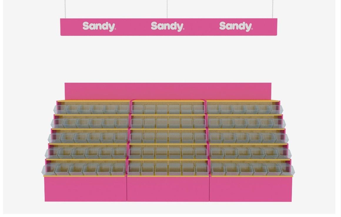 """Дизайн торгового оборудования """"Sandy"""""""