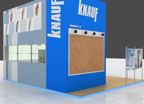 """Дизайн выставочного стенда """"KNAUF"""""""