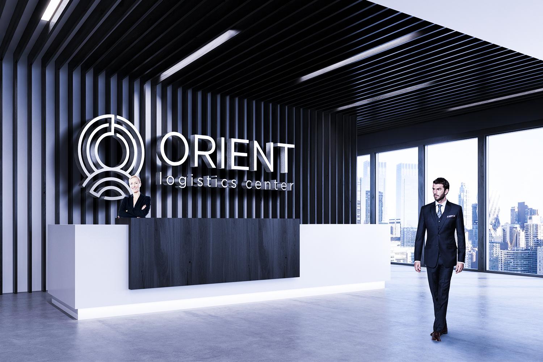 Логотип и фирменный стиль ORIENT LOGISTICS CENTER