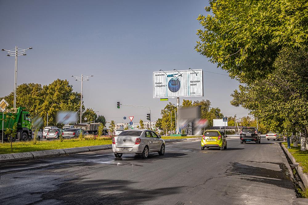 Призма - динамическая конструкция на пересечении улиц Себзар и Нурафшан