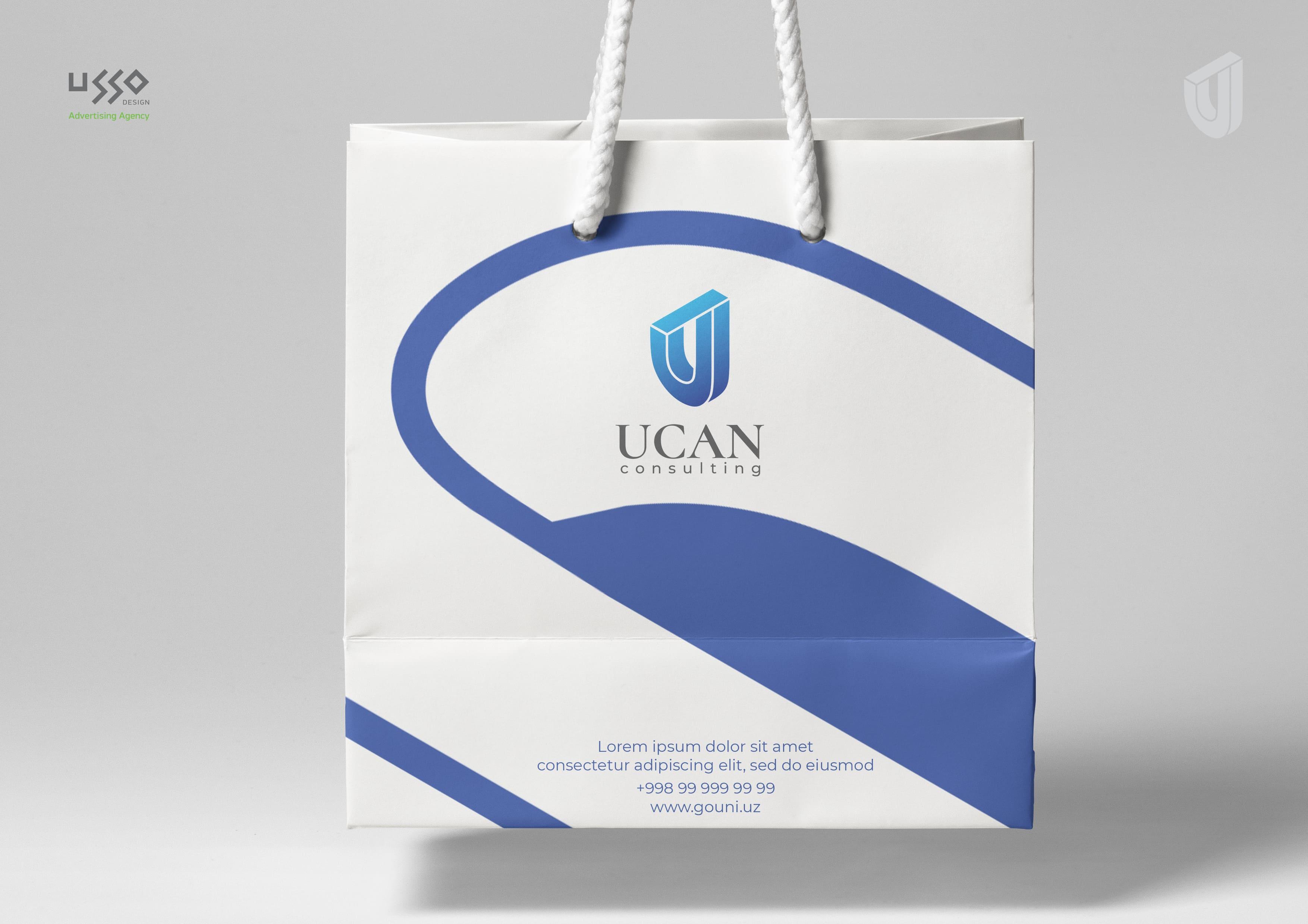 Логотип и фирменный стиль UCAN Consulting